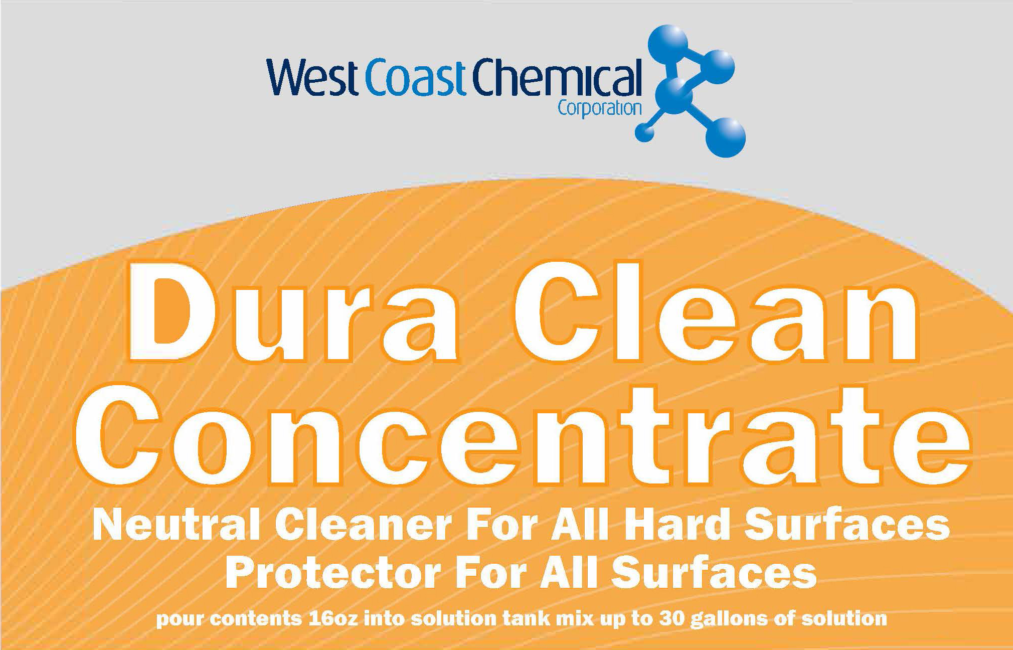 dura clean concentrate label